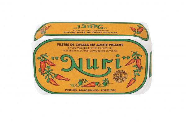 NURI - Pikantes Makrelenfilet in Olivenöl - 125 g