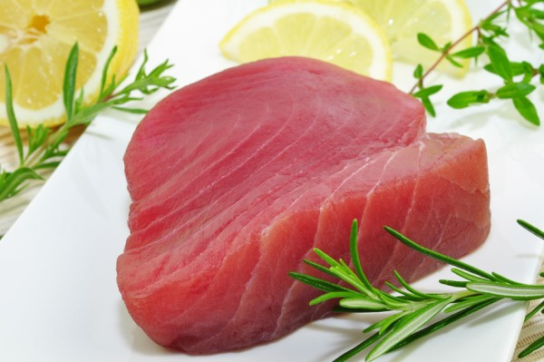Fangfrischer Thunfischfilet für Sushi