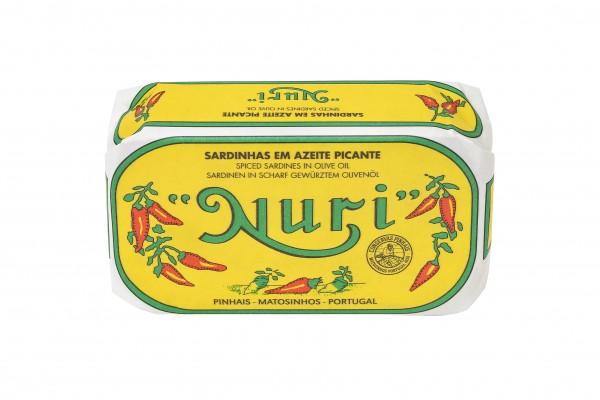 NURI - Pikante Sardinen in Olivenöl - 125 g