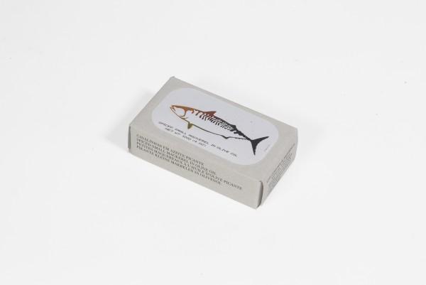 Kleine, pikante Makrelen in Olivenöl - 120 g